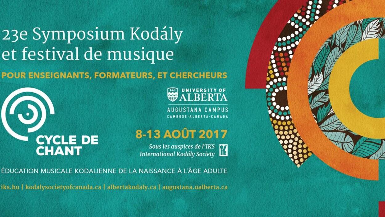 Le logo du 23e Symposium Kodály et festival de musique à Camrose en Alberta