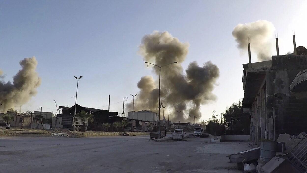 Les Casques blancs, secouristes en zones rebelles, ont dénoncé un recours à «du gaz de chlore toxique» par le régime syrien sur Douma.