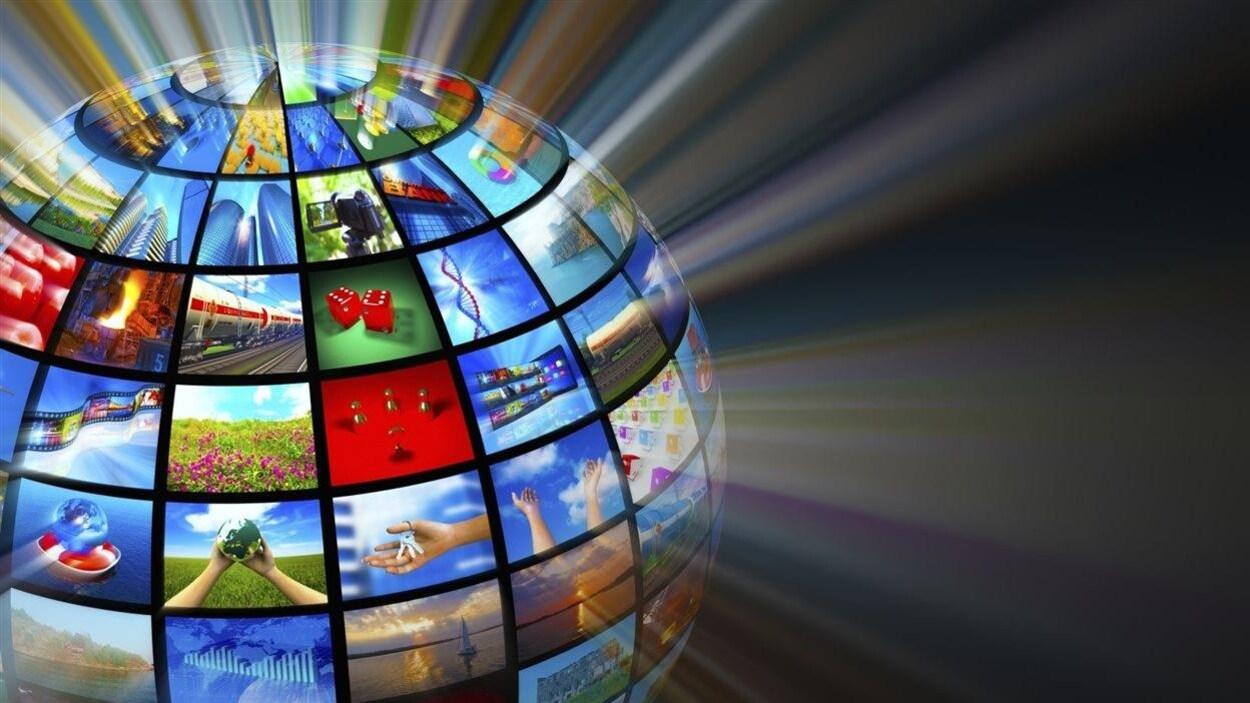 Plusieurs technologies représentées sur une sphère