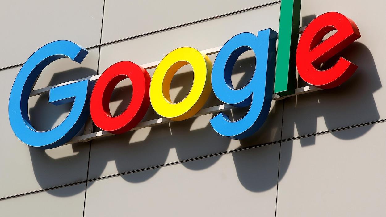 Le logo de l'entreprise Google.