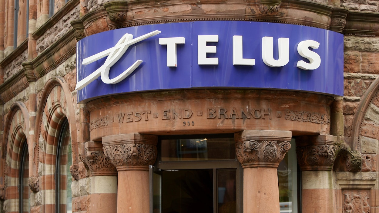Une boutique Telus au centre-ville de Montréal