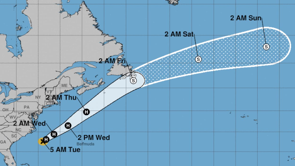 L'ouragan Chris faiblit en direction de l'est du Canada
