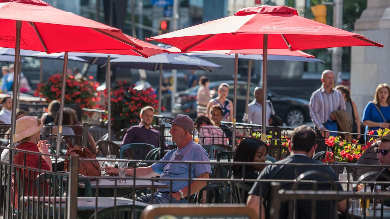 Une terrasse du centre-ville d'Ottawa.
