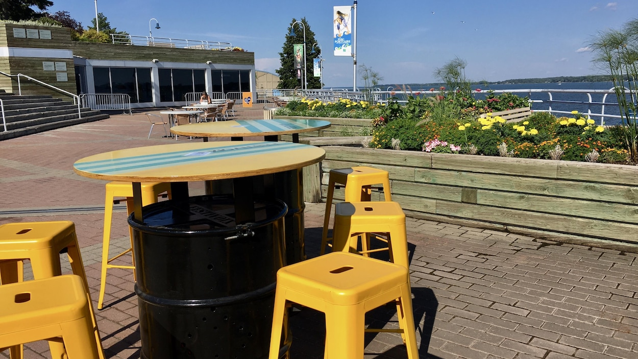 La terrasse Saint-Lau a ouverte vendredi à Trois-Rivières.