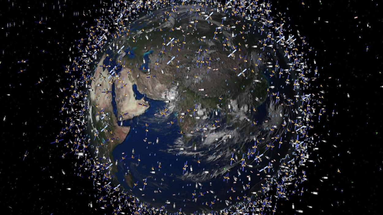 Une représentation, datant de 2009, de l'ampleur des déchets spatiaux.