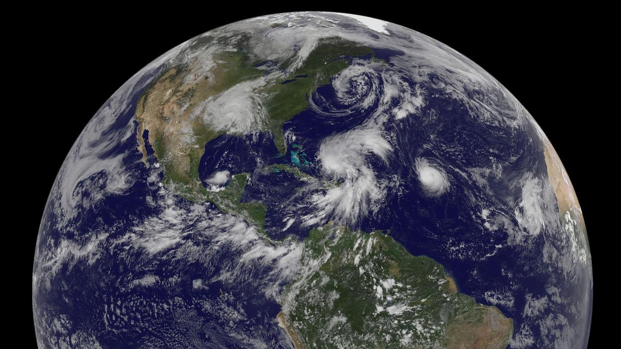 Image de la NASA montrant l'Amérique du Nord.