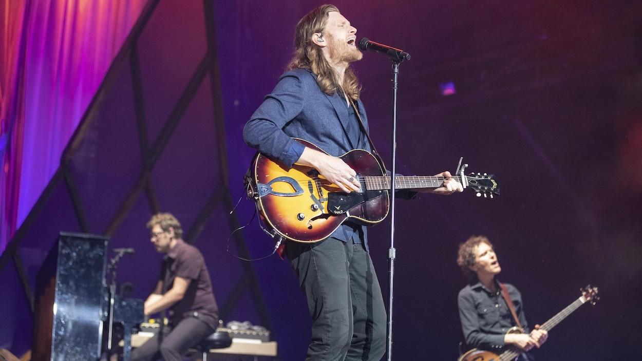 Le groupe The Lumineers, en concert à Osheaga 2019