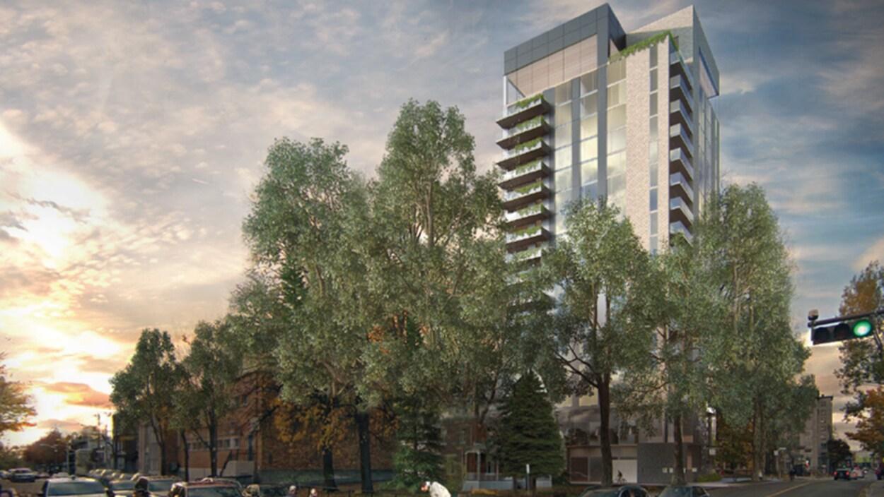 Le projet immobilier, perçu de la 1ère avenue.