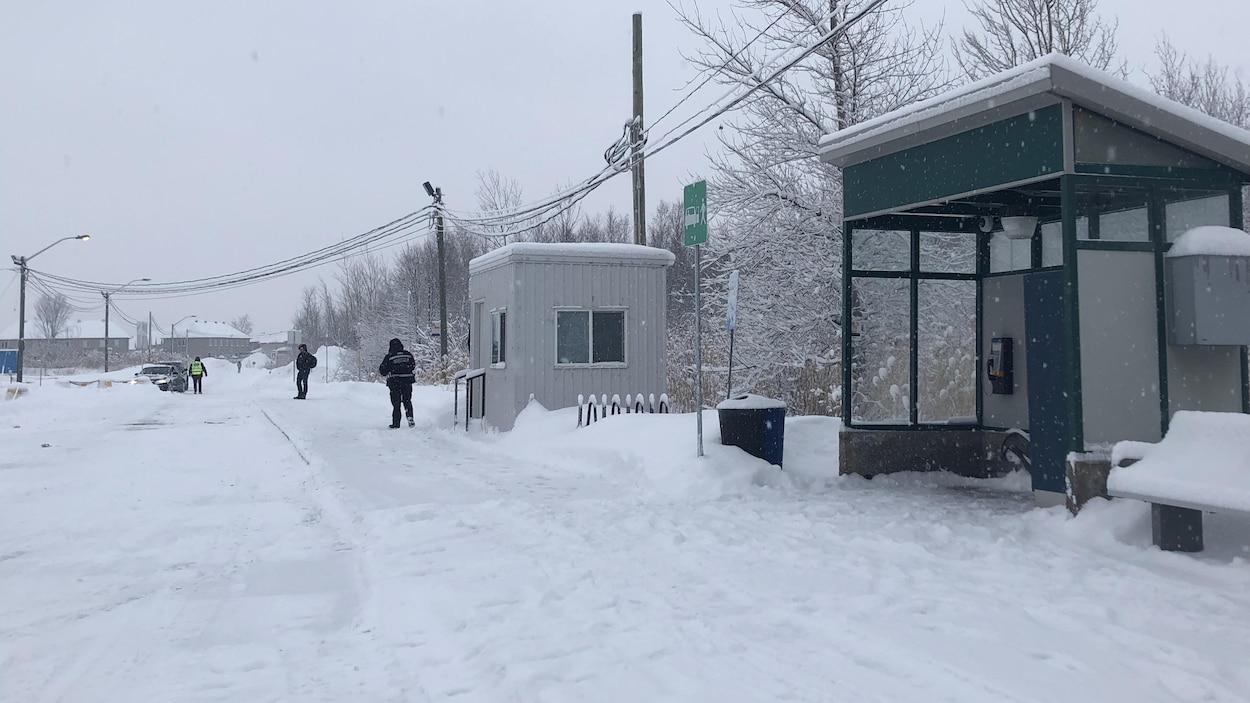 Une gare déserte.