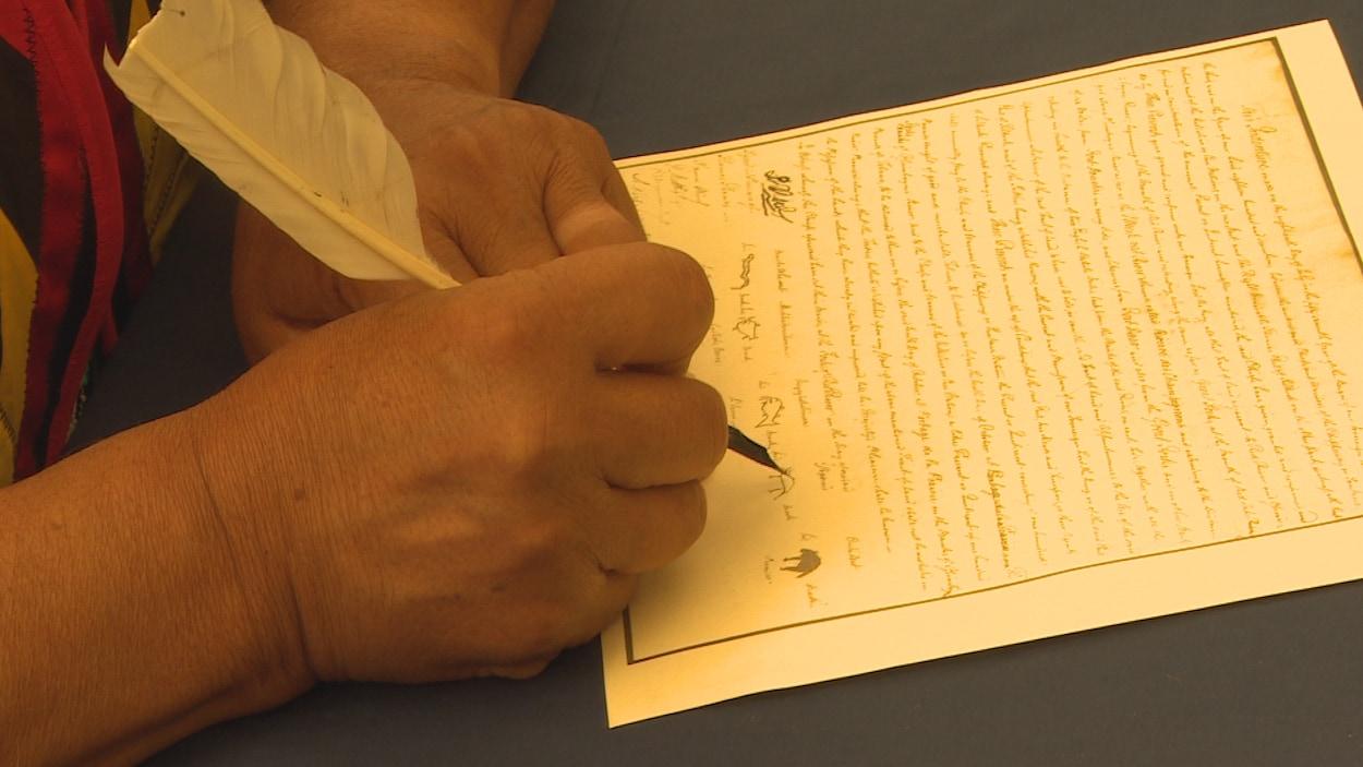 En 1817, la signature du traité de Selkirk.