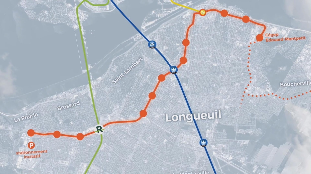 Carte du tracé du nouveau tramway.