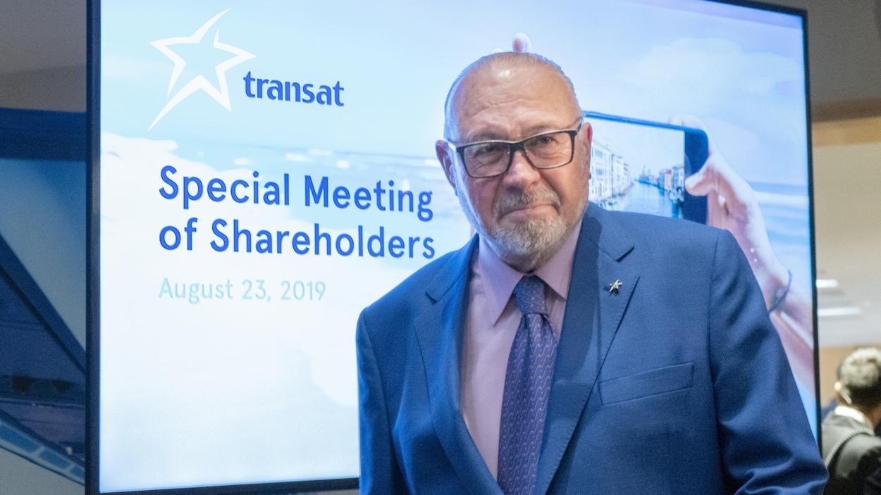Jean-Marc Eustache lors de l'assemblée extraordinaire des actionnaires