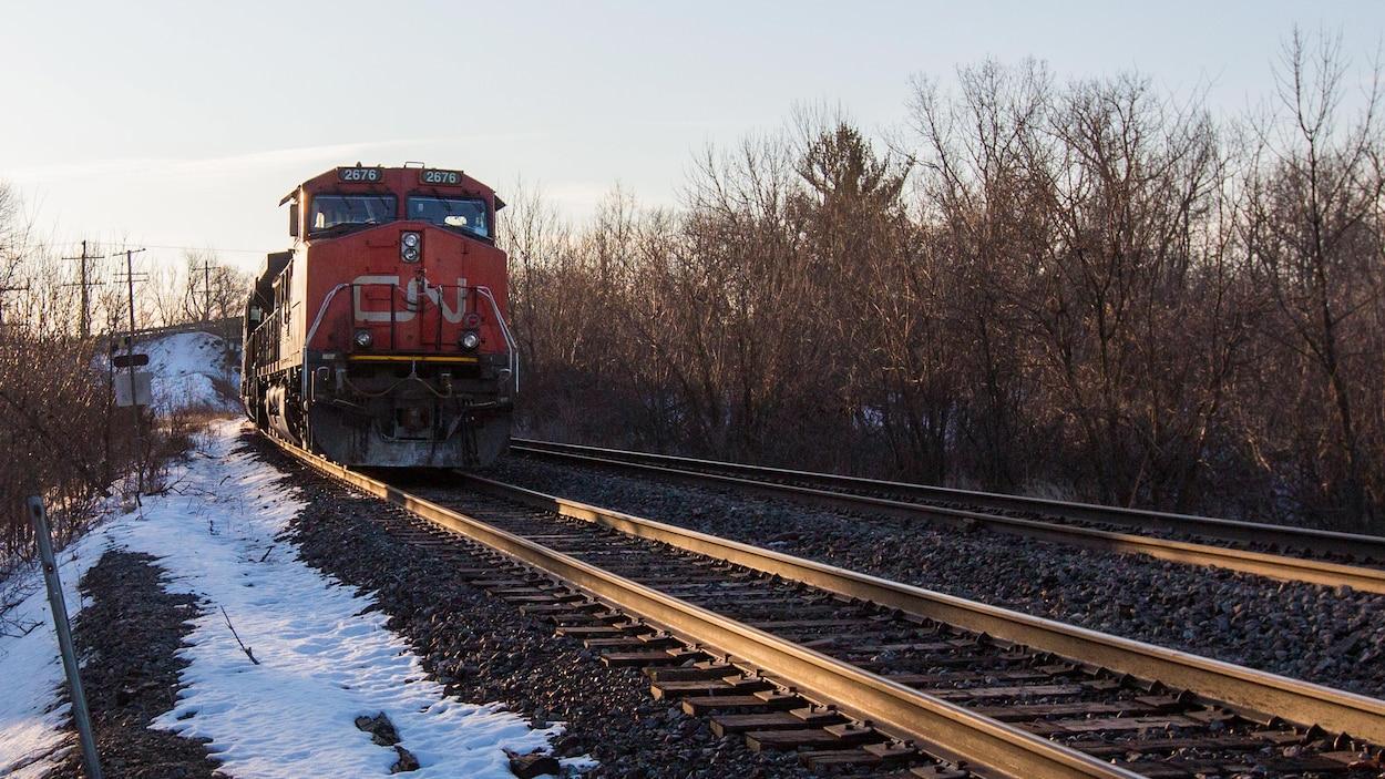 Un train du CN.