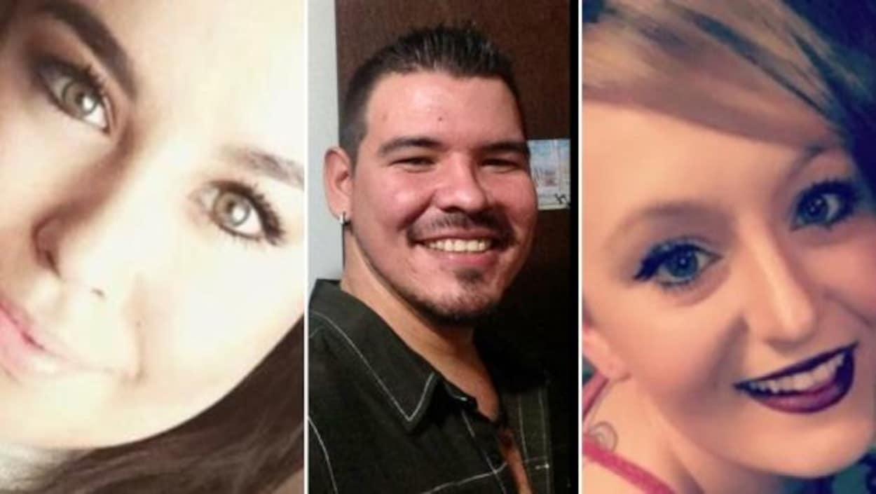 Photo des trois victimes.