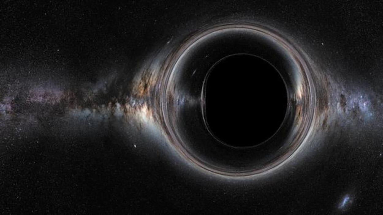 Représentation artistique d'un trou noir