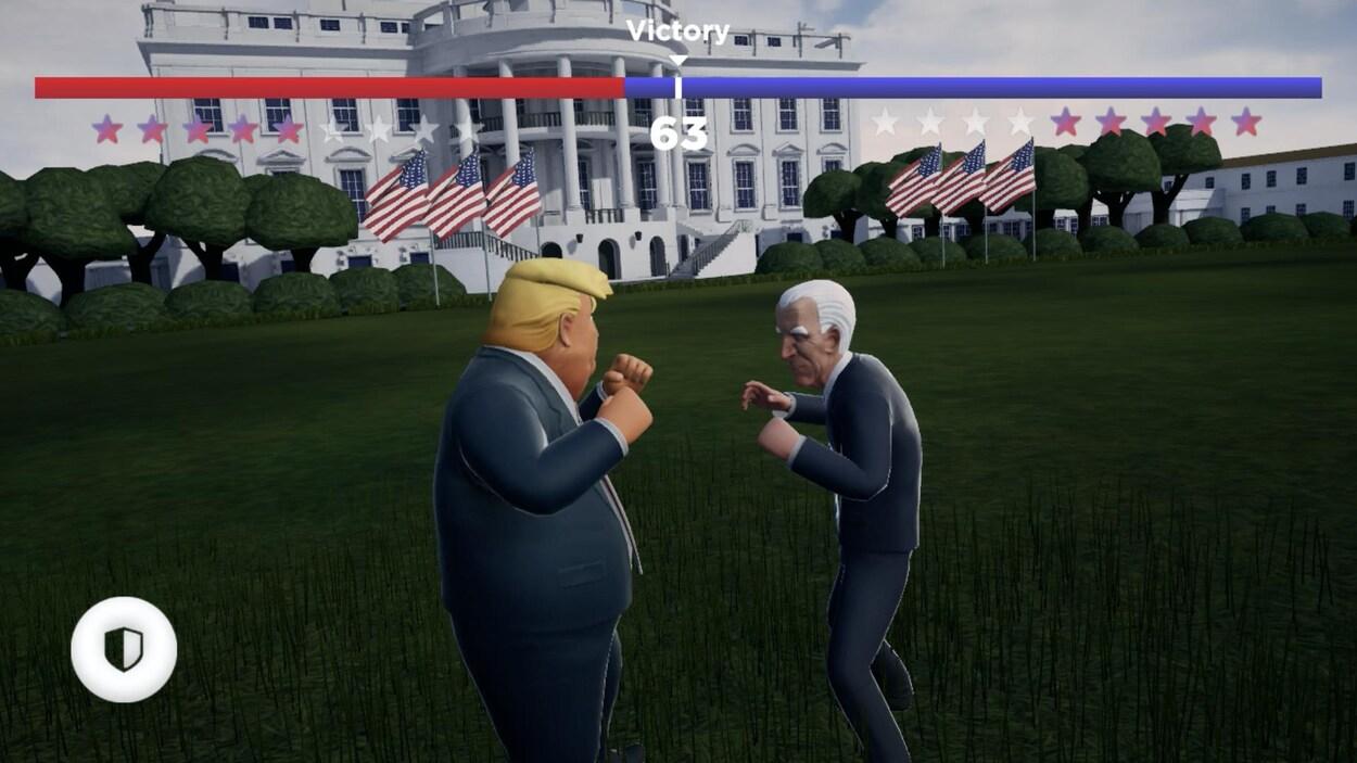 Joe Biden et Donald Trump s'affrontent dans le jeu vidéo Unpresidential!.