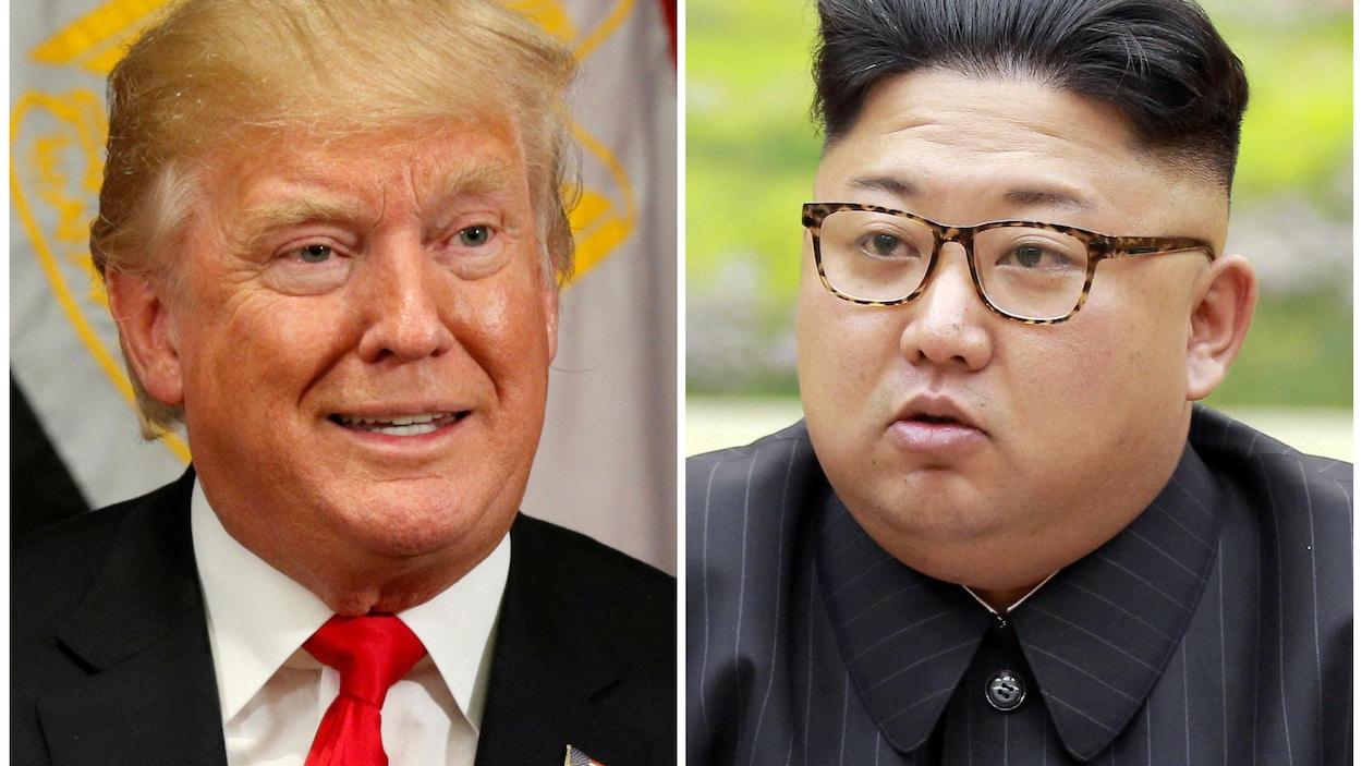 Le président américain Donald Trump et le leader nord-coréen Kim Jong-un