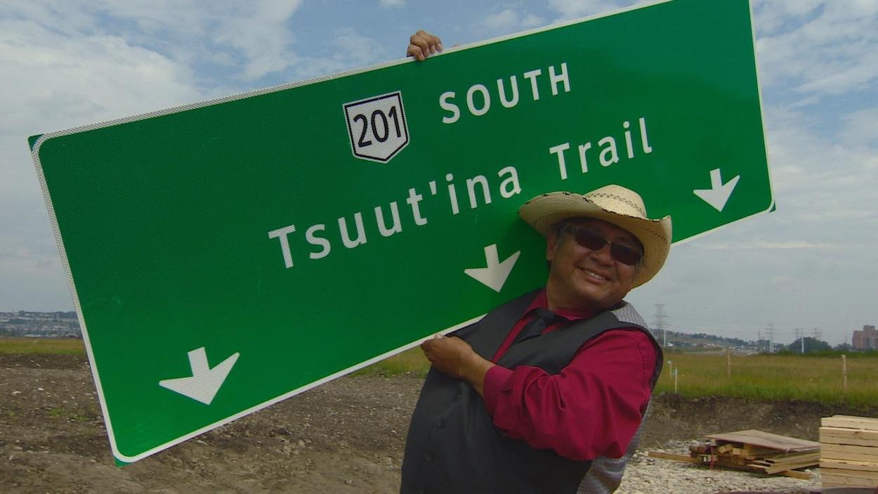 Lee Crowchild le chef de la nation Tsuut'ina