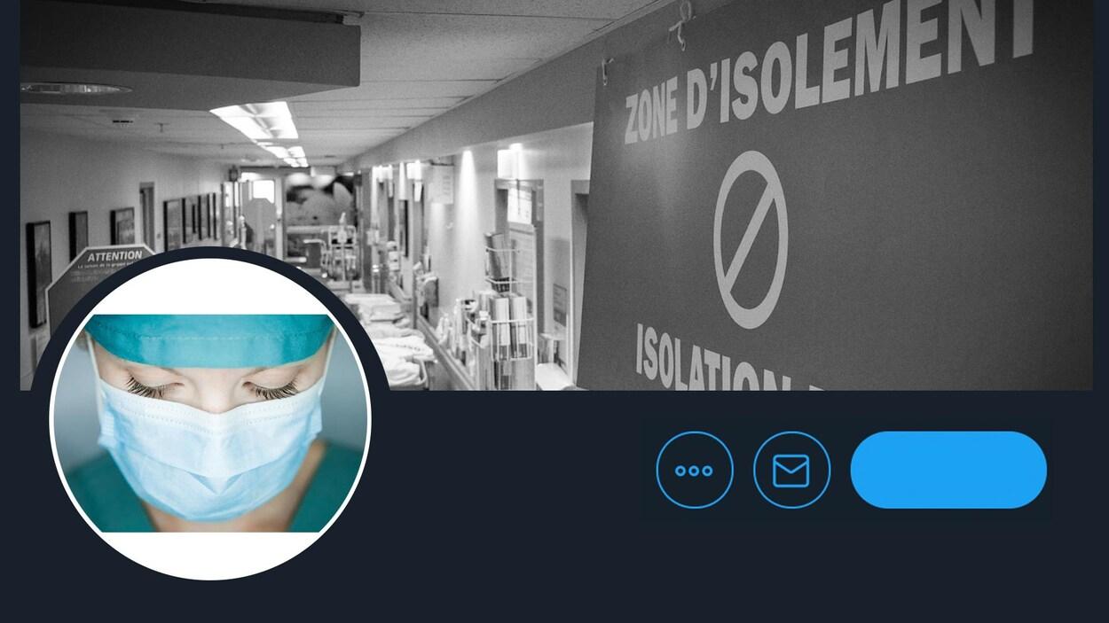 Un faux compte Twitter d'une professionnelle de la santé