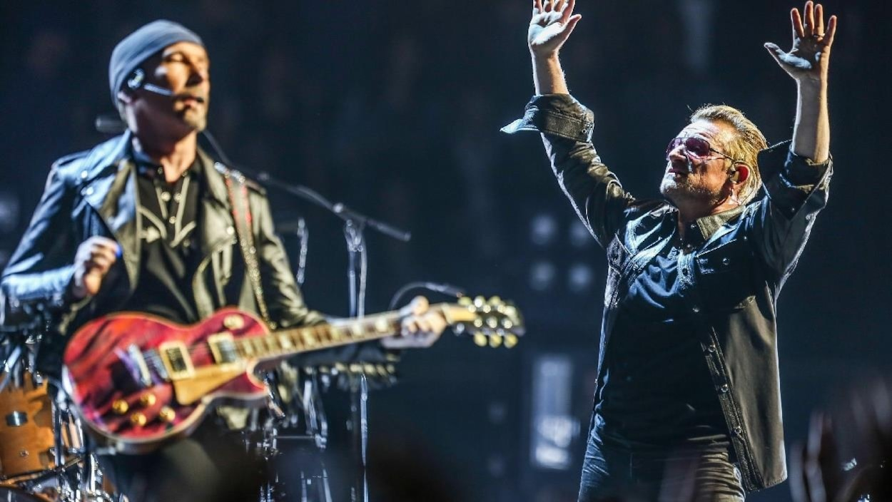The Edge et Bono du groupe U2