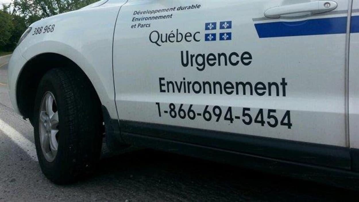 Un véhicule d'Urgence-Environnement.
