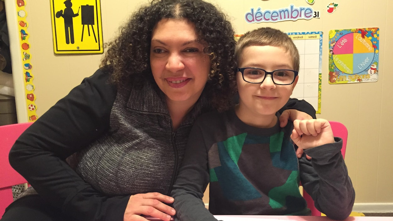 Nadia Ben Boubaker et son fils Olivier Duhaime