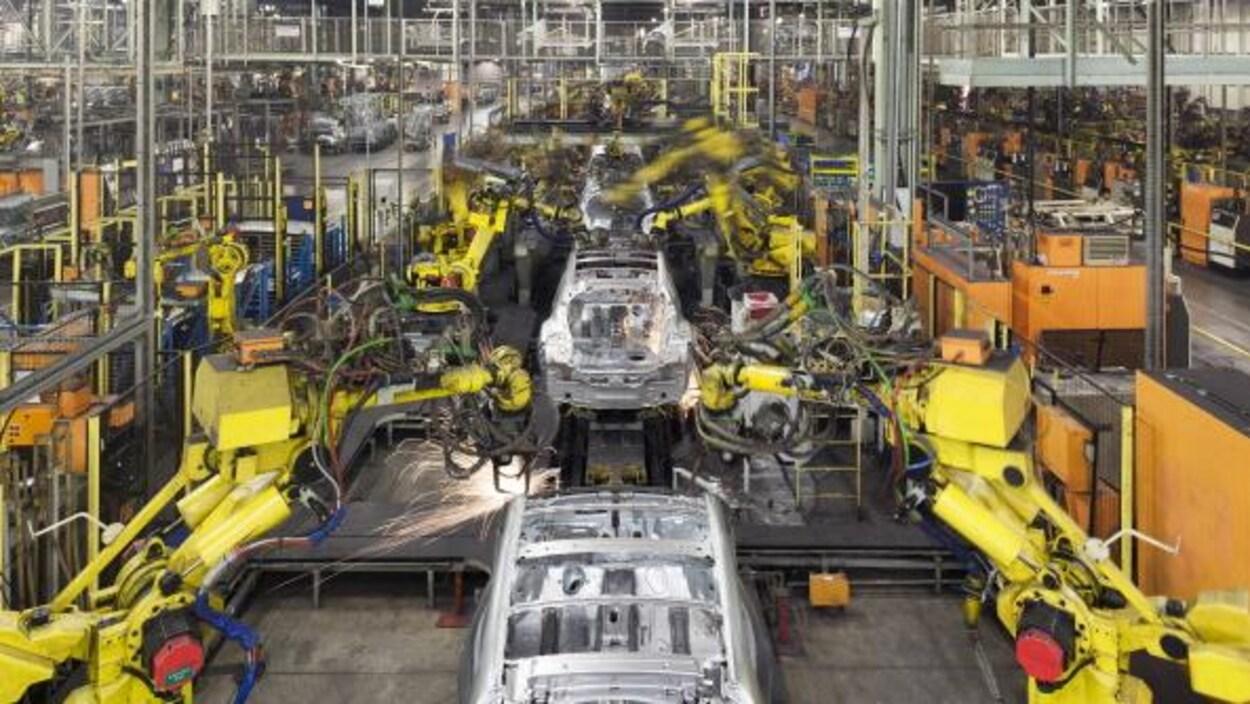 Usine d'assemblage de Nissan à Sunderland, au Royaume-Uni.