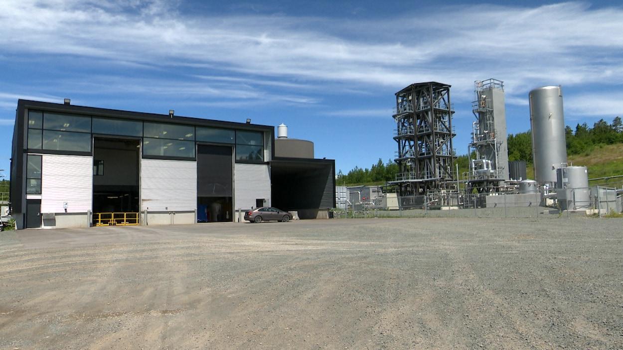 L'usine de biométhanisation de Rivière-du-Loup.