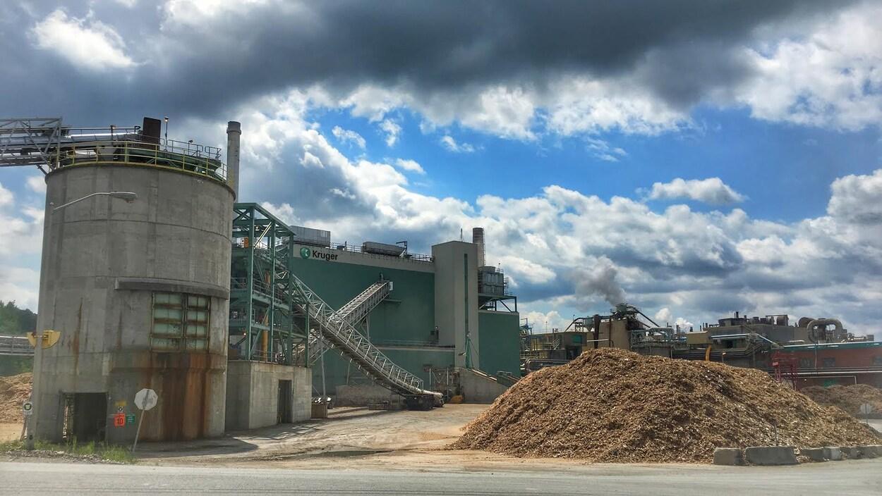 L'usine Kruger dans l'arrondissement Brompton de Sherbrooke