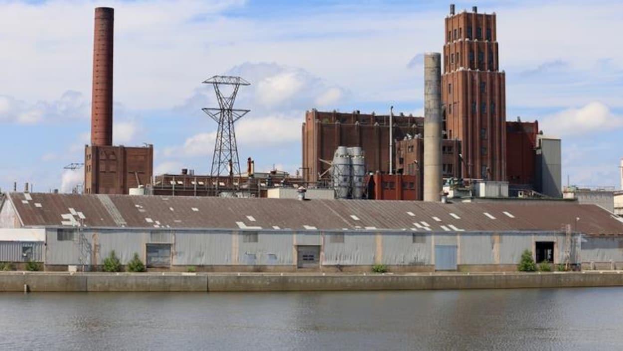 L'usine de Papiers White Birch à Québec