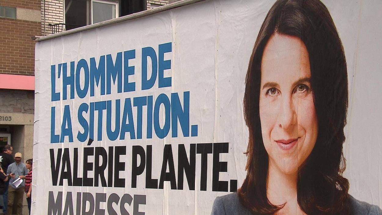 L'affiche publicitaire de Valérie Plante