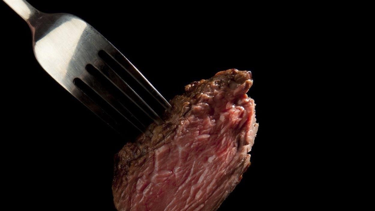Le risque accru a été observé particulièrement pour les grands consommateurs de viande rouge non transformée comme le boeuf et le porc.