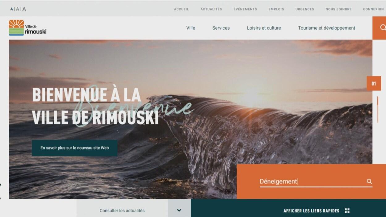 Une capture d'écran de l'entête du nouveau site web.