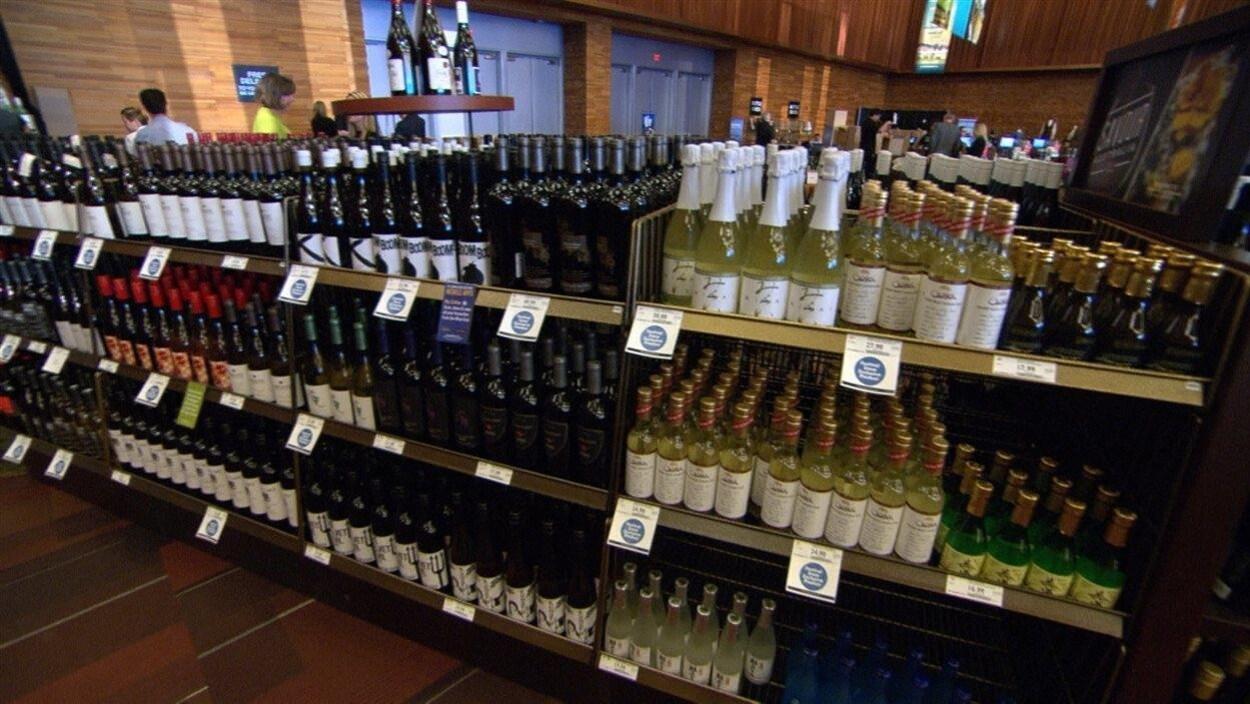 Des bouteilles de vin vendues à la SAQ