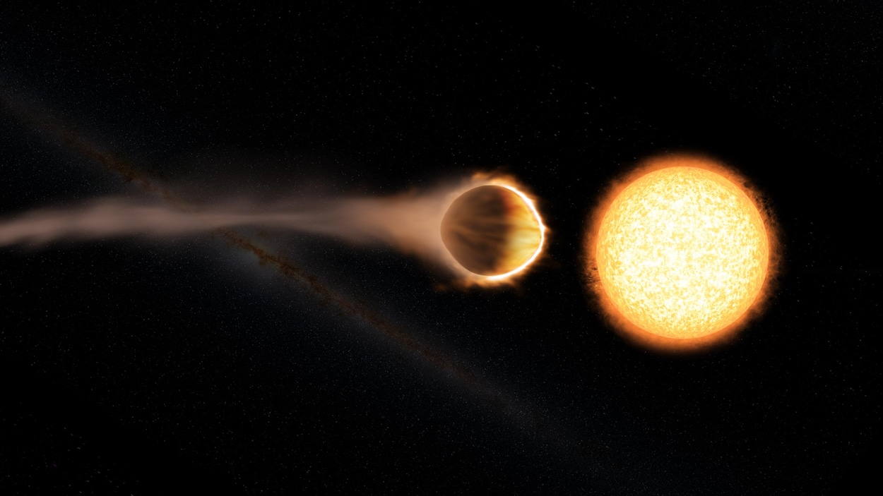 Représentation artistique de l'exoplanète WASP-121b