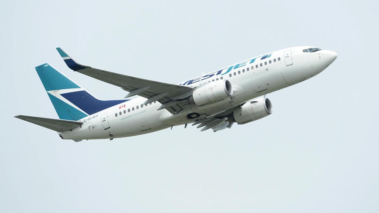 Un avion de WestJet.