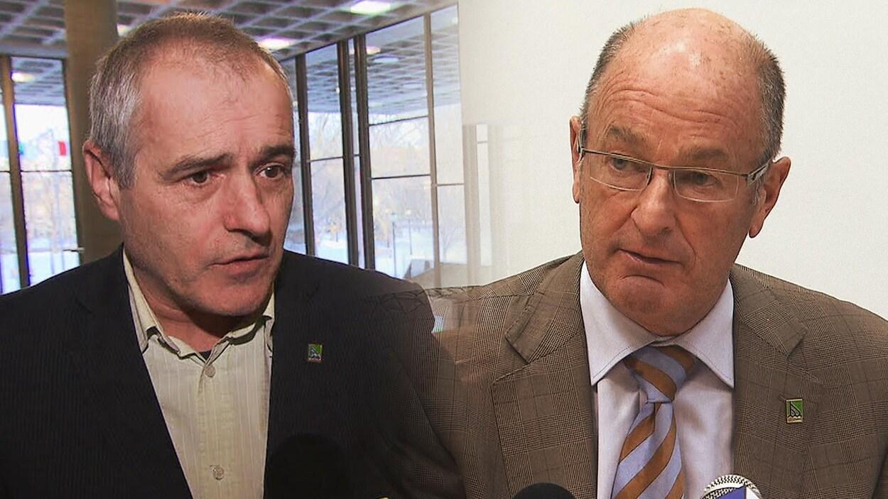 Yvan Toutant, porte-parole à la Ville de Trois-Rivières depuis 2004, et Yves Lévesque, ex-maire de Trois-Rivières.