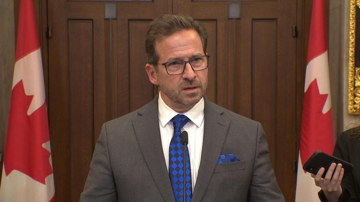 Yves-François Blanchet, le chef du Bloc québécois, réagissait jeudi au discours du Trône.