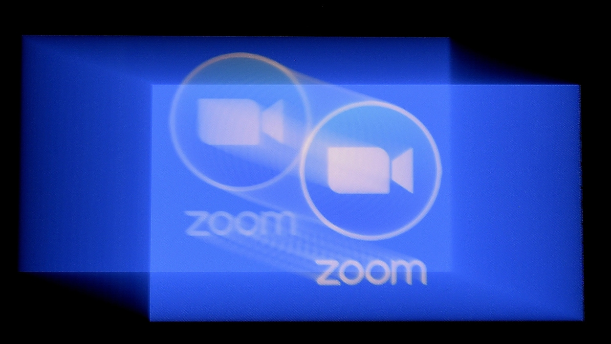 Le logo de l'application Zoom.