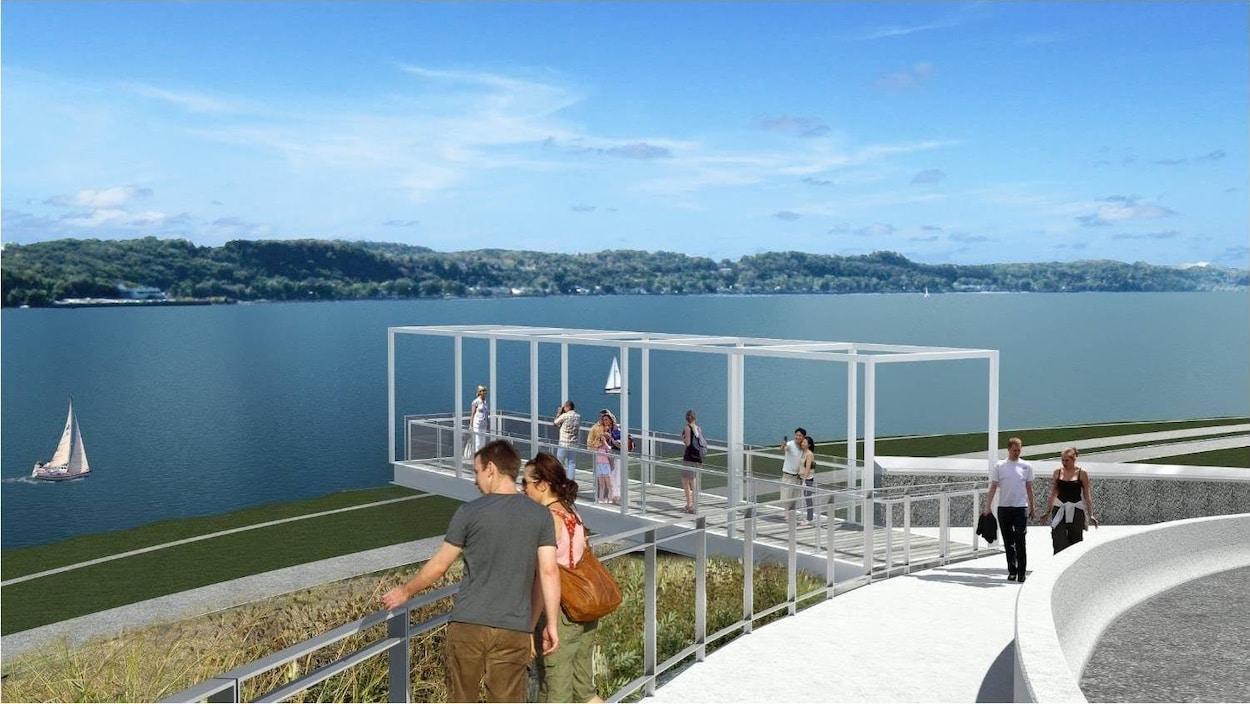 La Ville de Québec de concert avec la Commission de la Capitale Nationale vont aménager un belvédère dans la côte de Sillery.