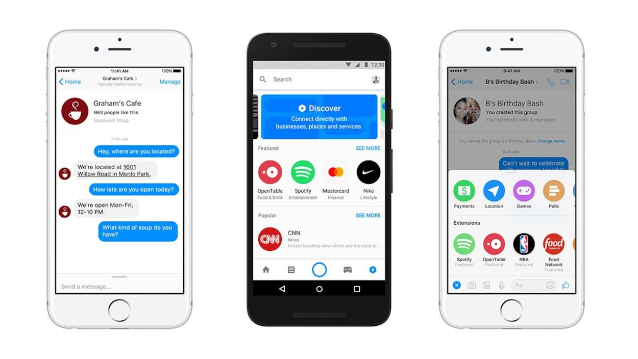 L'application mobile Facebook Messenger.
