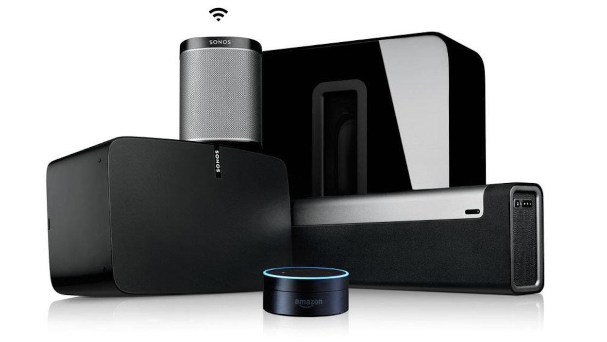 Les haut-parleurs Sonos pourront bientôt être contrôlés avec l'assistant Alexa d'Amazon.
