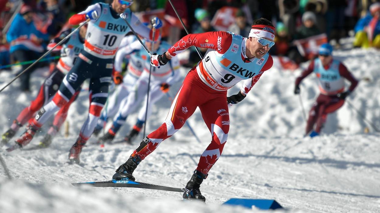 Alex Harvey lors du Tour de ski à Lenzerheide