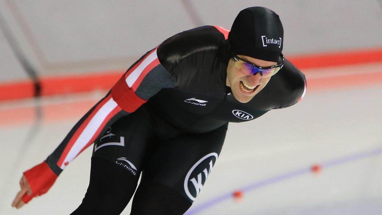Antoine Gélinas-Beaulieu lors des sélections nationales à Calgary
