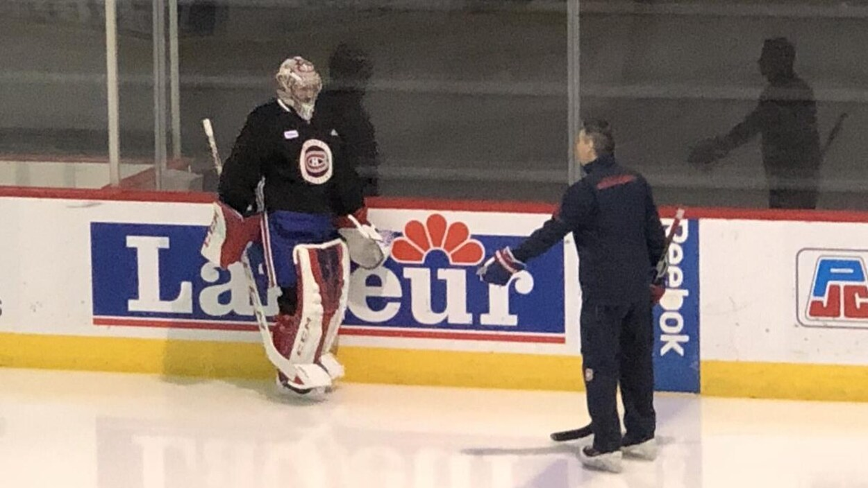 Carey Price a pris part à l'entraînement des Canadiens