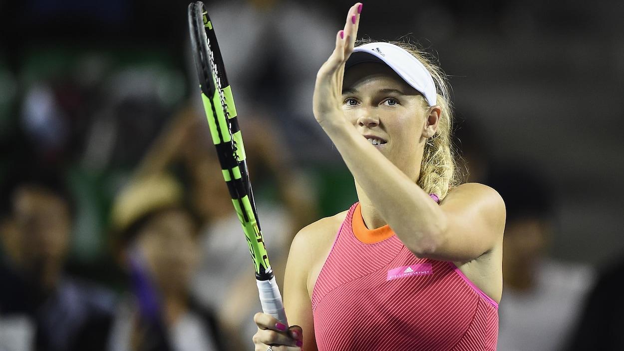 Wozniacki s'impose largement face à Halep