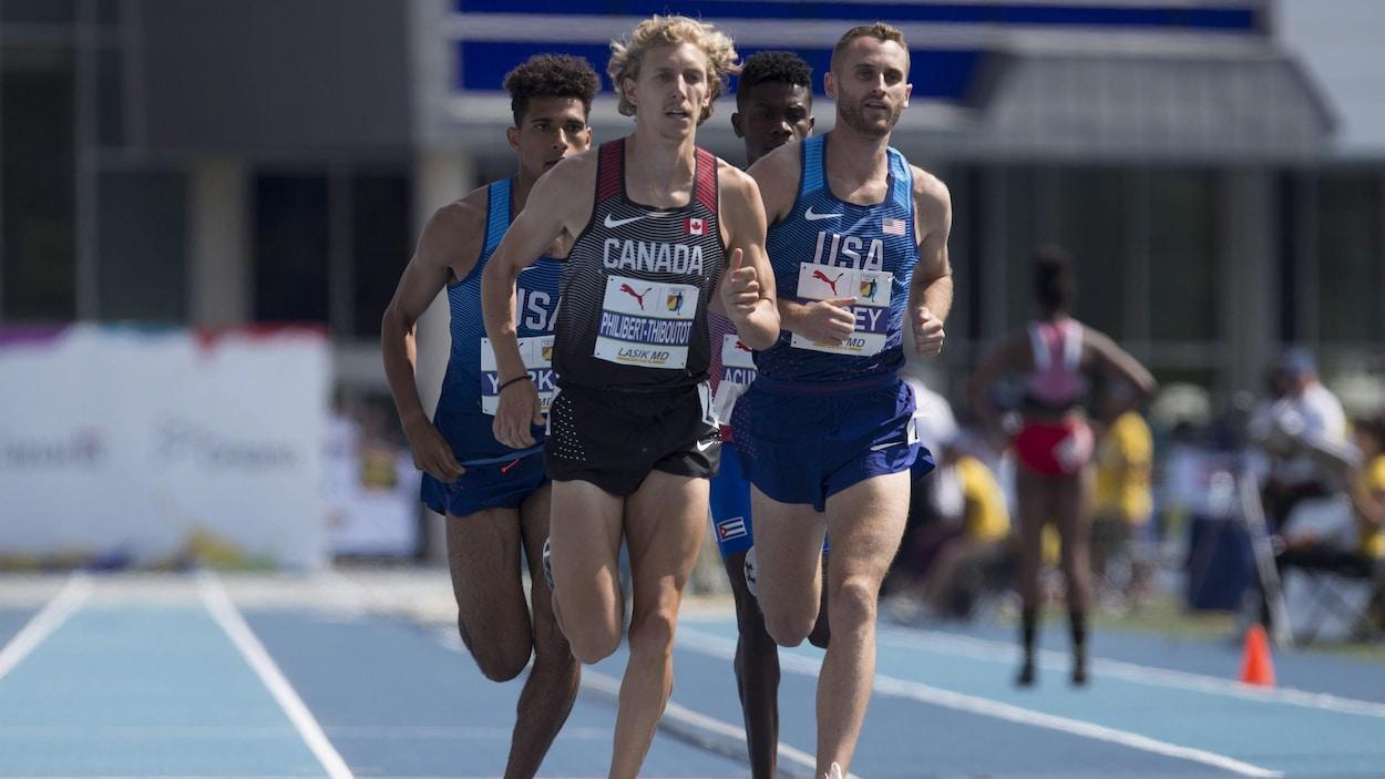 Charles Philibert-Thiboutot au 1500 m des Championnats NACAC