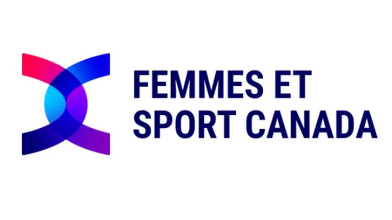 Deux arches à l'horizontal à côté du nom Femmes et sport Canada