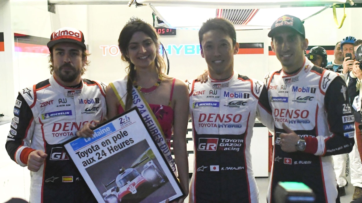 Fernando Alonso, Clarisse Aleid-Ripoche, Kazuki Nakajima et Sebastien Buemi