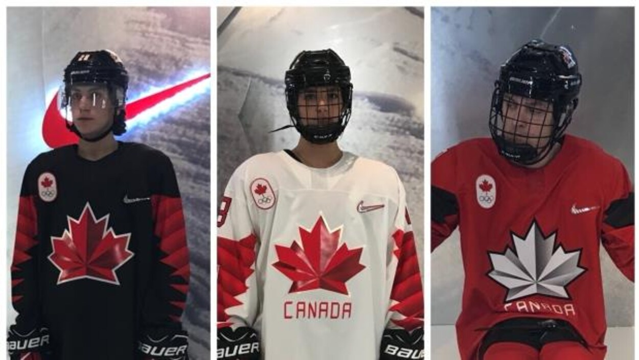 Les trois versions du chandail d'Équipe Canada pour Pyeongchang